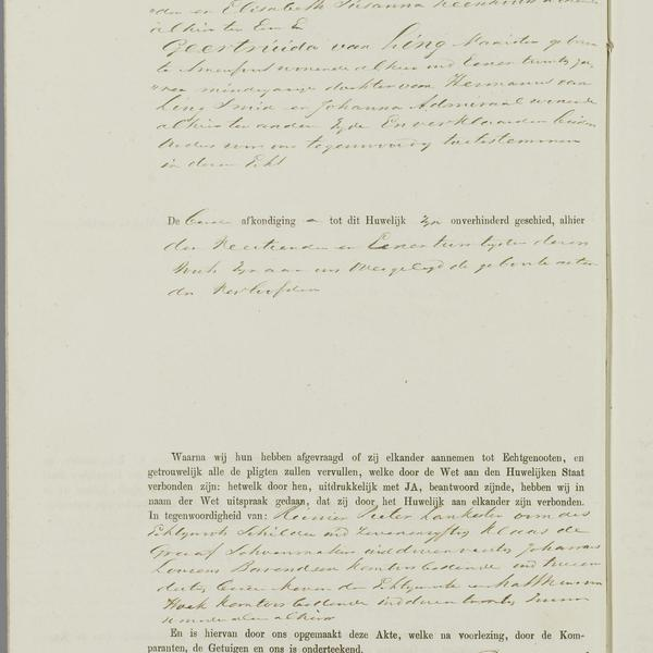 Civil registry of marriages, Amsterdam, 1873, sheet 81v