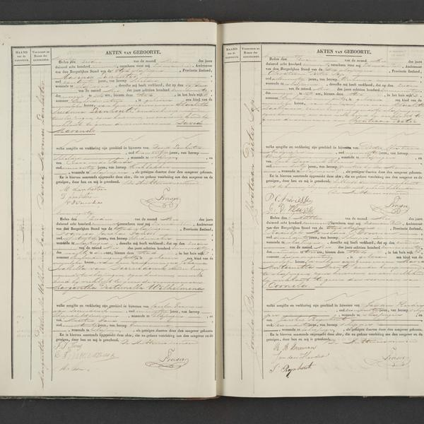 Civil registry of births Vissingen, 1847, records 90-93
