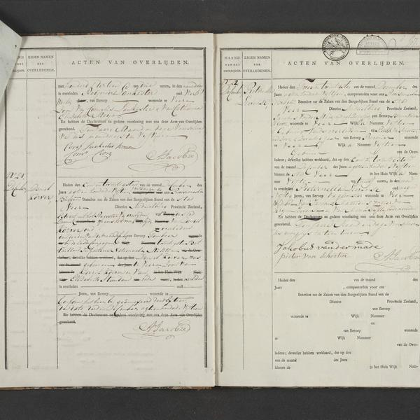 Civil registry of deaths, Veere, 1815, records 20-22