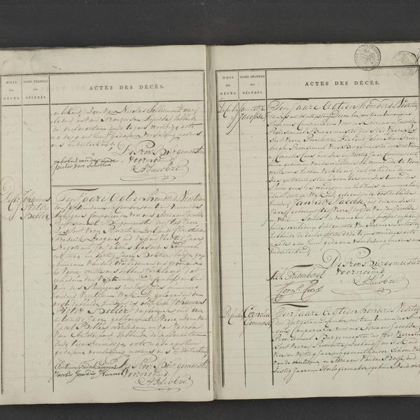 Civil registry of deaths, Veere, 1814, records 323-326