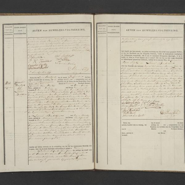 Civil registry of marriages, Veere, 1823, records 13-14