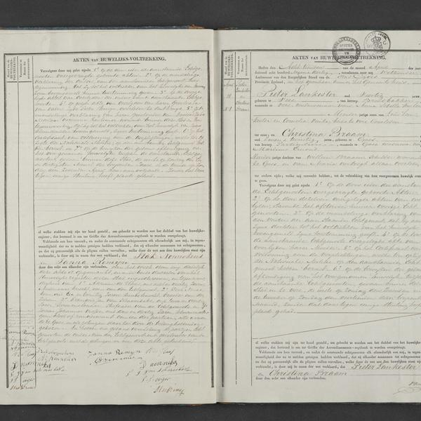 Civil registry of marriages, Goes, 1839, records 7-8