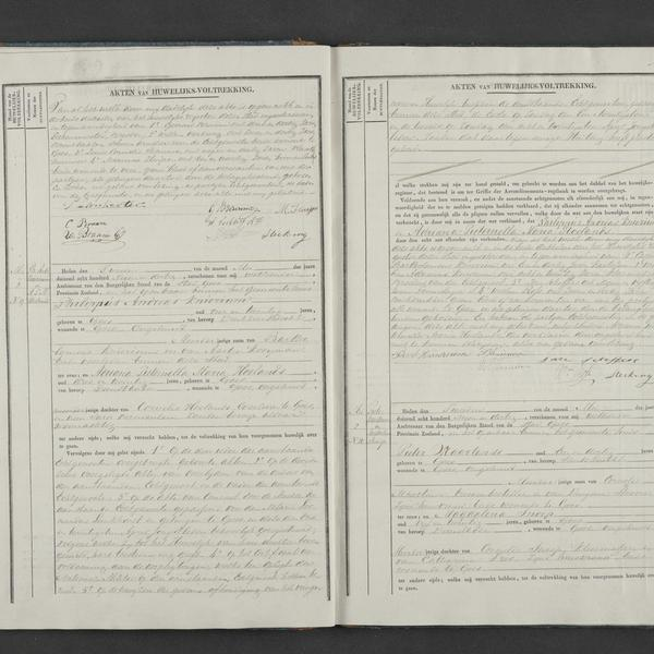 Civil registry of marriages, Goes, 1839, records 8-10