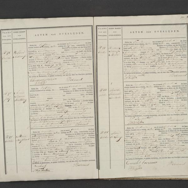 Civil registry of deaths, Veere, 1826, records 96-101