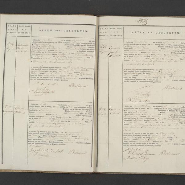 Civil registry of births, Veere, 1827, records 26-29