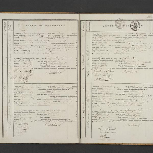 Civil registry of births, Veere, 1833, records 26-29