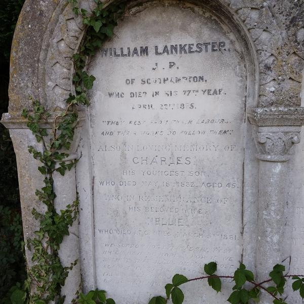 Grave of William Lankester, Charles Lankester, & Nellie