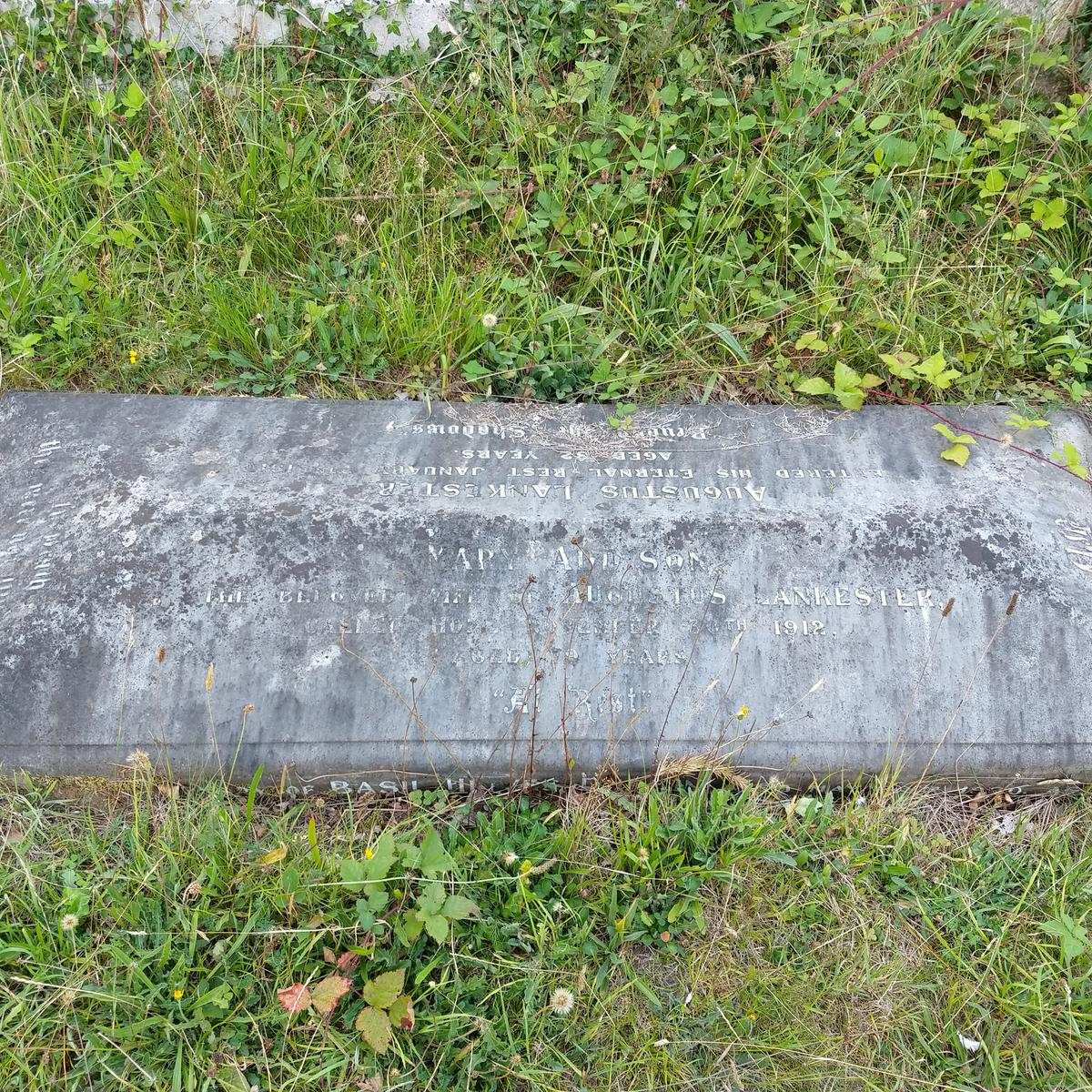 Grave of Mary Addison & Augustus Lankester