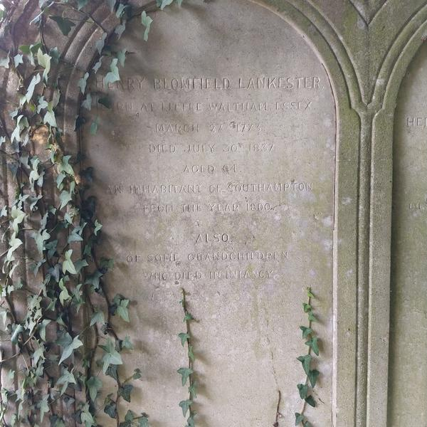 Grave of Henry Blomfield Lankester