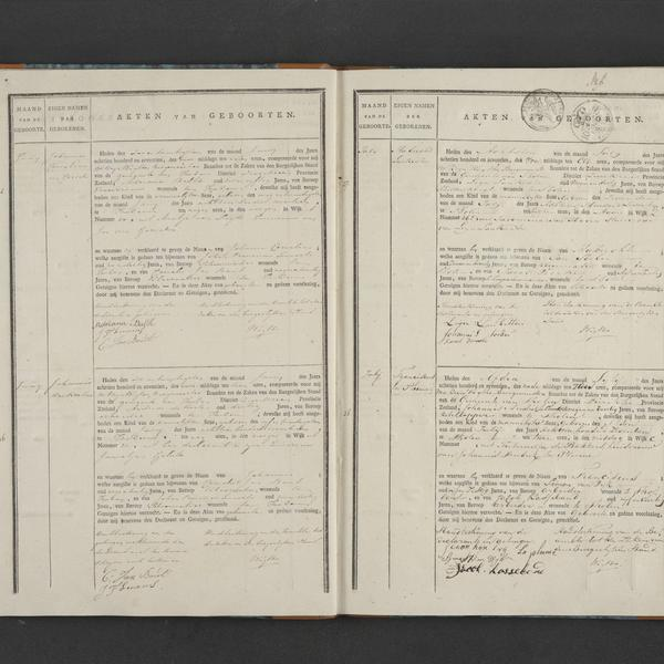 Civil registry of births, Tholen, 1817, records 35-38