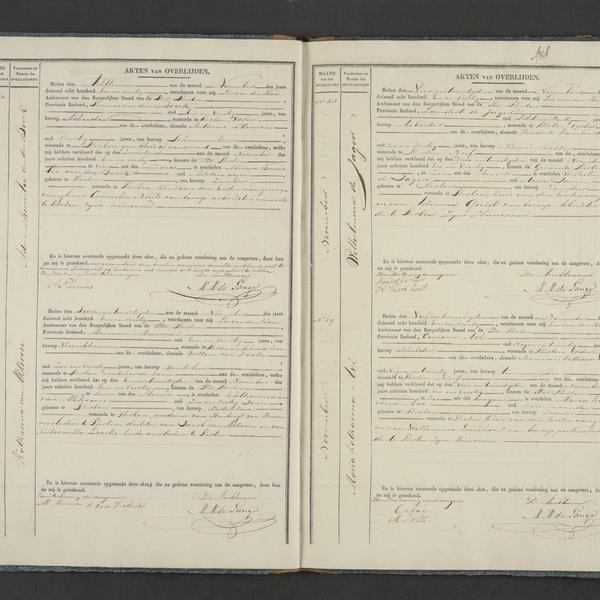 Civil registry of deaths, Tholen, 1841, records 46-49