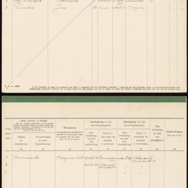 Civil registry, Tietjerksteradeel, 1914-1939, sheet 1364
