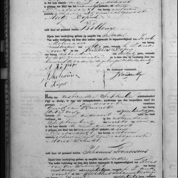 Civil registry of births, Zandvoort, 1865, records 50-51