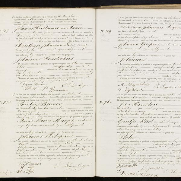 Civil registry of births, Leeuwarden, 1875, records 757-760