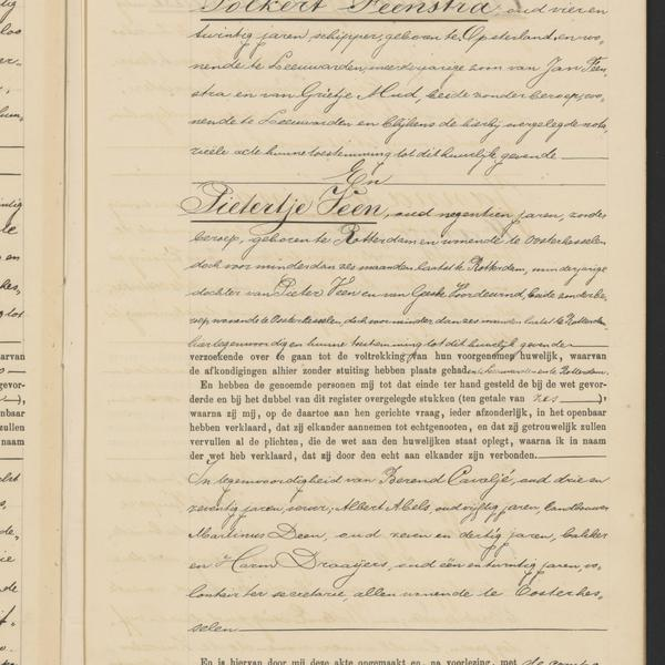 Civil registry of marriages, Oosterhesselen, 1906, record 12