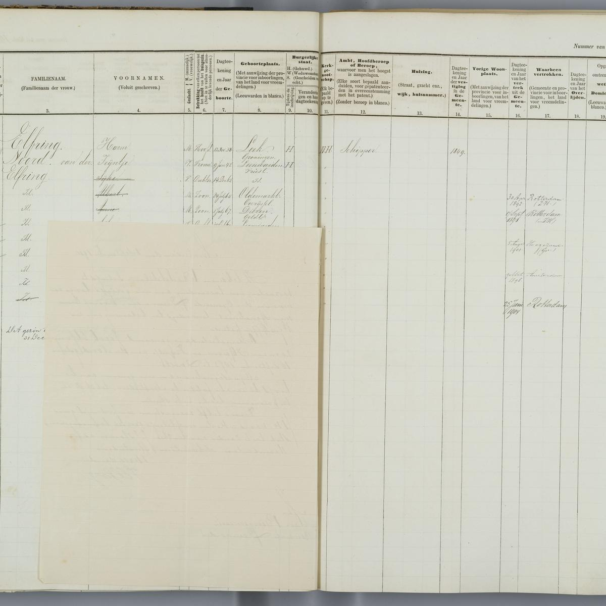 Civil registry, Leeuwarden, 1876-1904, sheet 180 (right)