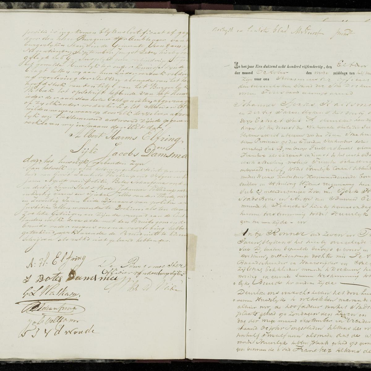 Civil registry of marriages, Dokkum, 1835, records 29-30