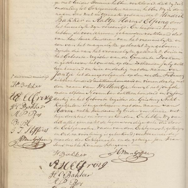 Civil registry of marriages, Groningen, 1836, record 232, page 2