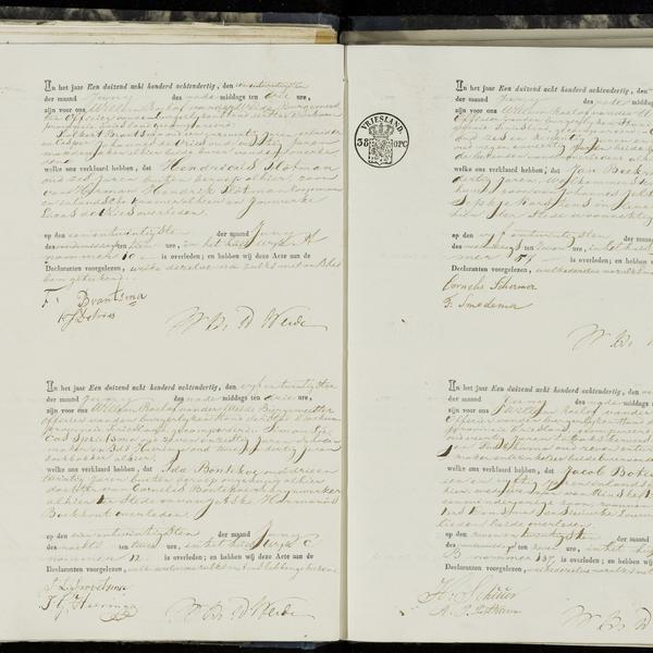 Civil registry of deaths, Dokkum, 1838, sheet 10