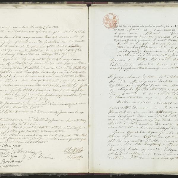 Civil registry of marriages, Veenwouden, 1814, records 1-2
