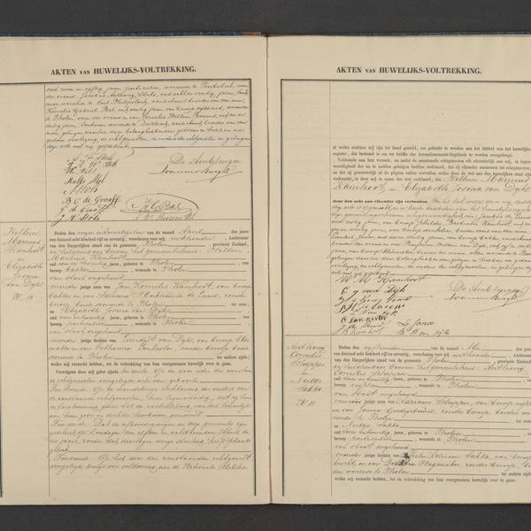 Civil registry of marriages, Tholen, 1875, records 9-11