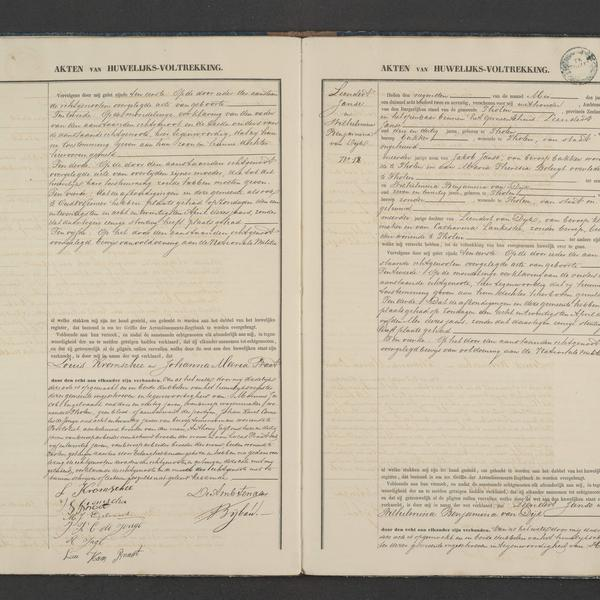Civil registry of marriages, Tholen, 1872, records 11-12