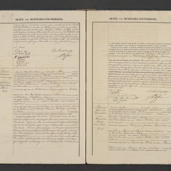 Civil registry of marriages, Tholen, 1872, records 12-14