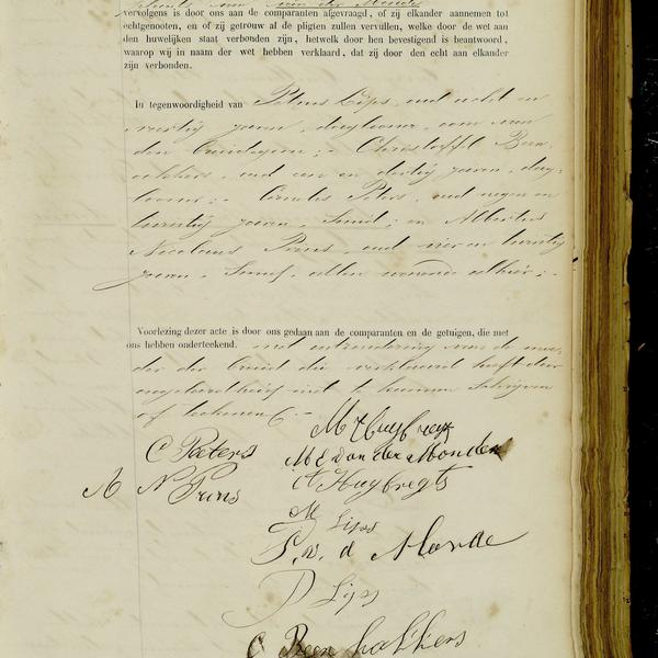 Civil registry of marriages, Breda, 1884, record 85, right page