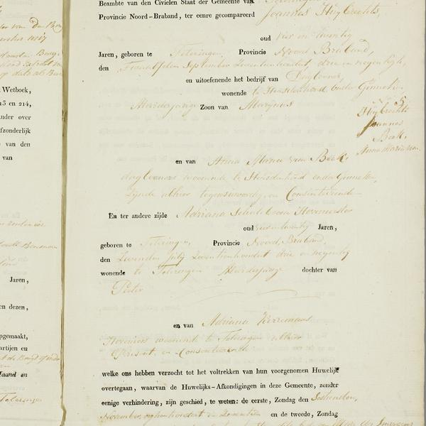 Civil registry of marriages, Teteringen,1817, record 5, right page