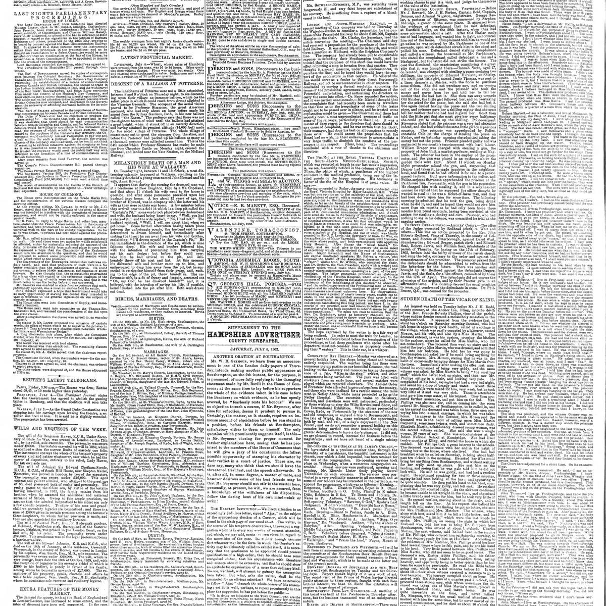 The Hampshire Advertiser, 1862-07-05, page 2