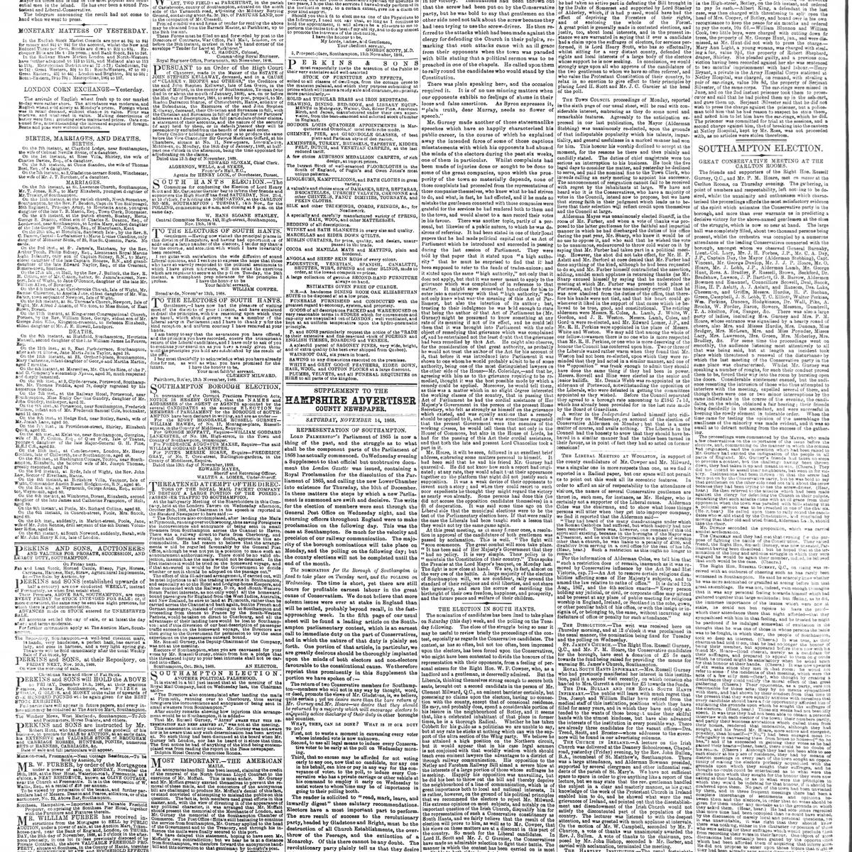 The Hampshire Advertiser, 1868-11-14, page 2