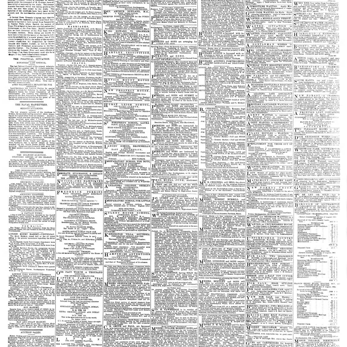 The Hampshire Advertiser, 1892-08-13, page 4