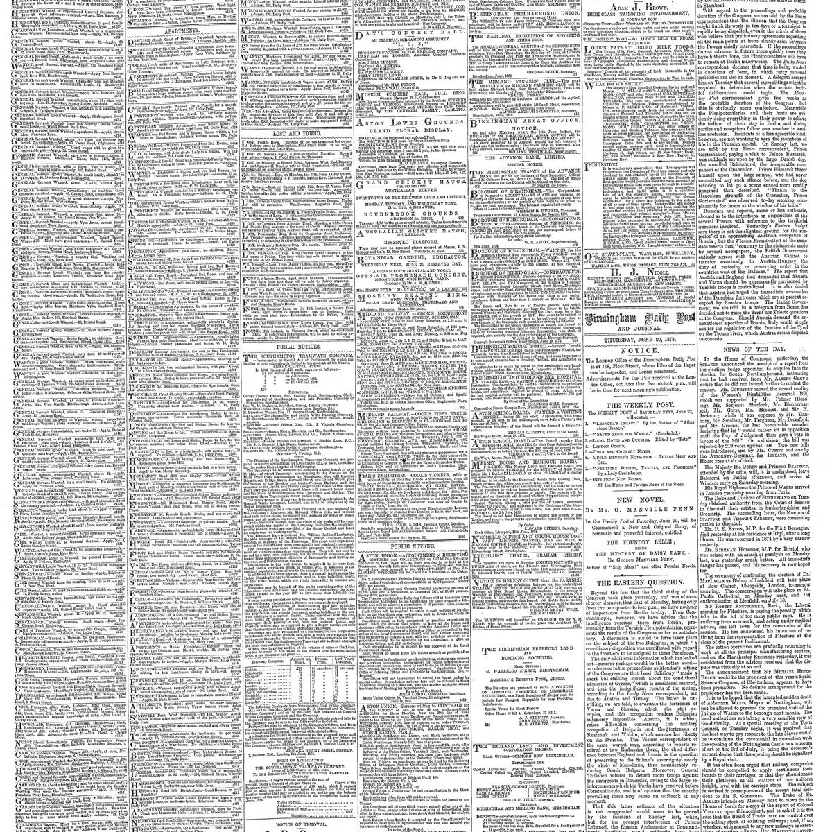 The Birmingham Daily Post, 1878-06-20, page 4